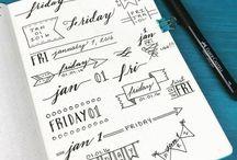 Boullet journal ideas