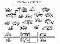 Trucks and Transportation Themes / Preschool worksheets and activities with cars, trucks, airplanes and other things that go...