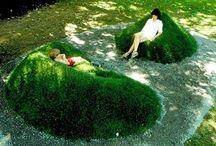 Travnatá lavička