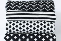 Monochrome Pattern / Black & white surface pattern and graphic design