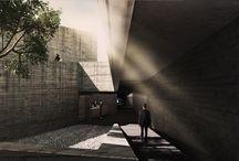 Funeraria Bosques / arquitectura . funeraria . subterraneo . concreto . mexico . parque . capilla . panteon