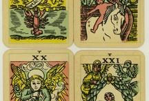 Tarot Card Illustration / A board showcasing the illustration of tarot cards.