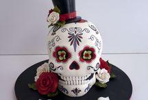 3D Skull Cake