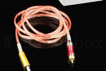 1.8MM RCA Clip Cord with Soft silicone / Higher quality