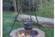 Cast iron cooking outdoors