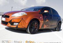 Fiao Bravo - Car Wrapping / Fiao Bravo - Car Wrapping Bicolore Nero Opaco - Arancio Metallizzato Candy