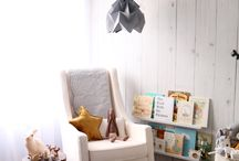 Boy or Girl Baby Nursery / Gender Neutral Baby Nursery Room. Woodland and bohemian themed. White and mustard colours