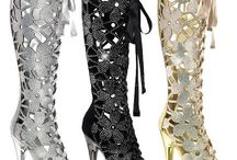 Expensive Stripper Shoes / Beautiful Dancer Shoes with Glitter and Bling..