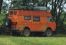 Orange campervans / Just for fun; orange is the new grey