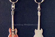 Mini Guitar Key Chains