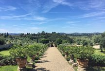 Our Garden / The garden of our Villa is ideal for events with sweeping views over the Tuscan countryside