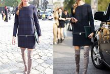 Over the knee boots / Outfits with over the knee boots.