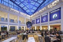 Bluewater Shopping Centre / Helvar Project- The site located in Dartford, Kent, boasts a huge variety of entertainment and shops from family play areas to the world's leading fashion houses. However, one area that needed a revamp was the Wintergarden which houses the food court. London-based Lighting Design International (LDI) was called in to see how it could help and deployed a Helvar lighting control system to bring new life to the old site.