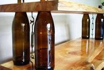 Decoración con botellas de vidrio / by Abel Freelance