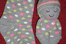 ponožkové panenky a zvířátka