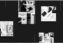 Useful Templates for Graphic Designers / A board full of our favorite templates and mockups to help design and present projects to your clients in a beautiful way.