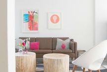 Stubbebord / Bord laget av trestubber