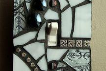 placca mosaico b/n