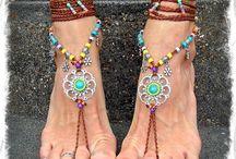 Mandala barefoot sandals
