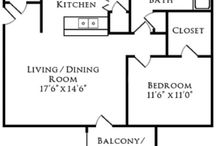 Woodland Floor Plan / Looking for a spacious one bedroom in Nashville, TN?  Square Feet: 768 Price: $1089