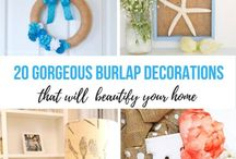 Burlap Crafts + DIY Decor / The best burlap crafts and burlap home decor ideas. You can pretty much make anything with burlap!!