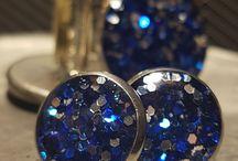 Glitterbomb glitter cufflinks