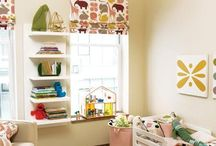 Nursery interior decor ideas / Looking for fabric and wallpaper inspiration of baby and small children's rooms