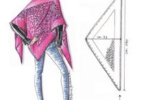 triangle scarves pattern