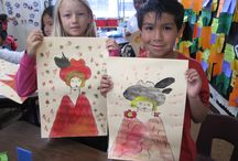 Toulouse-Lautrec - Art projects for kids & K-8 students / Toulouse Lautrec- Art Elements -Taught, Line, Art Activity- Emphasis Parisian Character, Drawing / Painting, Student Art Supplies- Crayons, Watercolor.