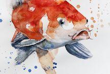 aquarela d'água
