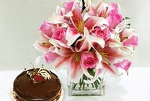 FLOWERS AND CAKES / Our fresh flower arrangements combined together with yummy different varieties of Cake to make your lucky more recipients happy.