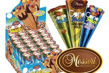 Messori Cono Snacks / Wafer lined with dark chocolate. Smooth, rich truffle chocolate filling in 3 varieties. Natural ingredients.  Join the party!