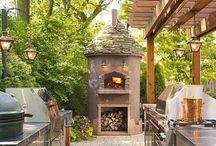 outdoor kitchen / by Kim Sutton