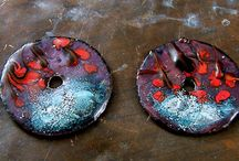 Enamel Copper Components / Sharing all of my enameled copper components and beads. Hope you enjoy seeing them as much as I love making them. You will also find pieces made by other artist and tools associated with the trade.