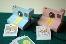 card board polaroid
