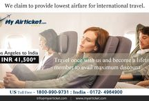 Flights from Los-angeles to India / Cheapest airfare from Los-angeles to India. #travel #flights #airfare #airline #Dallas #India #airtickets #international #myairticket #Cheapest