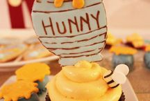 Winnie the Pooh Party Ideas / Winnie the Pooh party ideas for a birthday or baby shower -- Winnie the Pooh cakes, decorations, party foods and favors. See more party ideas at CatchMyParty.com.