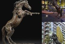 Horse & Equine - sculpture / Bronze sculptures made by Hamish Mackie, all signed, dated and numbered editions