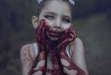 creepy make up / isn't creepy, but mesmerize