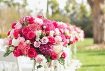 Bright pink wedding