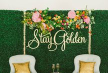 """BONT """"Stay Golden"""" Shoot / The Fall/Winter edition of Brides of North Texas Magazine has just been released with this gorgeous feature on Propmaker! We had so much fun at this photoshoot and worked alongside some incredible wedding pros to make it all come to life."""