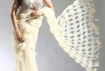 Hand made designer saree by sonali magar