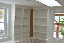 built in shelving / by Kathryn Gorsha