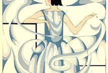 Thayaht ( illustrations mode ) / Illustrations mode, Madeleine Vionnet, années 1920