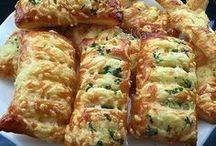 Kaas broodjes van bladerdeeg
