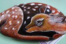 peinture cailloux / que des animaux peint que j'aimerais essayer