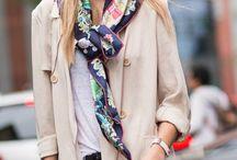 comment porter une écharpe colorée