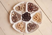 Chocolate Pretzels / There is nothing like the combination of Salty & Sweet!! Our pretzels are drenched in delicious & creamy white, milk & dark chocolate...then topped with different toppings like chocolate drizzle, sprinkles & coconut!  www.hanselandgretelcandykitchen.com  1-800-524-3008