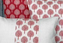 Funky Floral and Geometric Tree Cushions / Nothing brings the look of elegant living together like a few luxuriously filled scatter cushions in this season's most on trend colours.  www.lotsofliving.co.uk