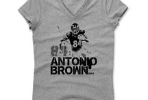 Antonio Brown / Antonio Brown (born July 10, 1988) is an American football wide receiver and punt returner for the Pittsburgh Steelers of the National Football League (NFL). He played college football at Central Michigan University, where he earned All-American honors in 2008 and 2009 as a punt returner. Brown was selected 195th overall by the Steelers in the sixth round of the 2010 NFL Draft.
